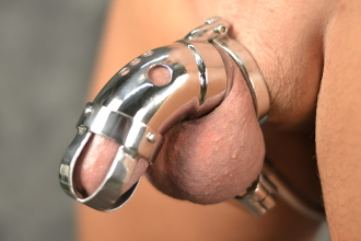 Cock cage chastity device