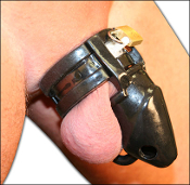 Man Whore Male Chastity Silicone Cock Cage Black