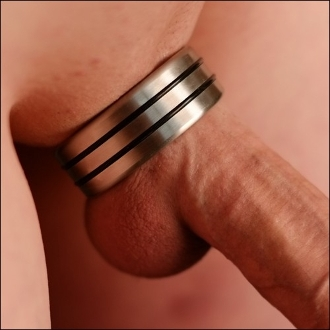 Designer Series Stainless Steel Cock Ring Double Accent