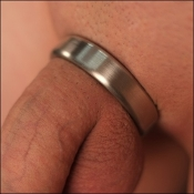 Narrow Medical Grade Heavy Duty Stainless Steel Smooth Cock Ring